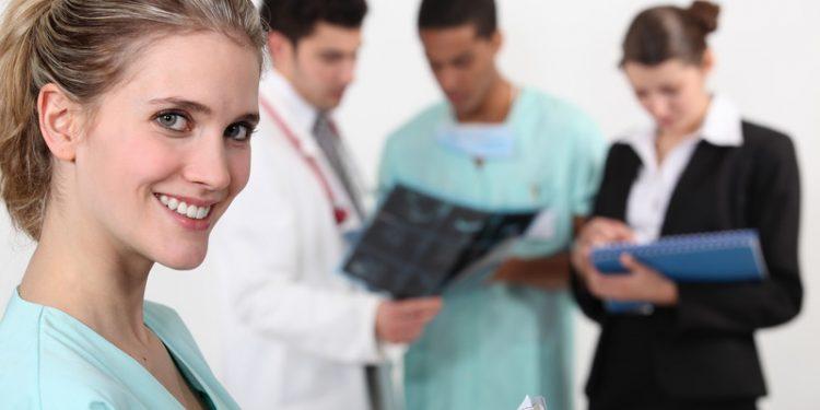 nurses, registered nurse with physician, medical team,